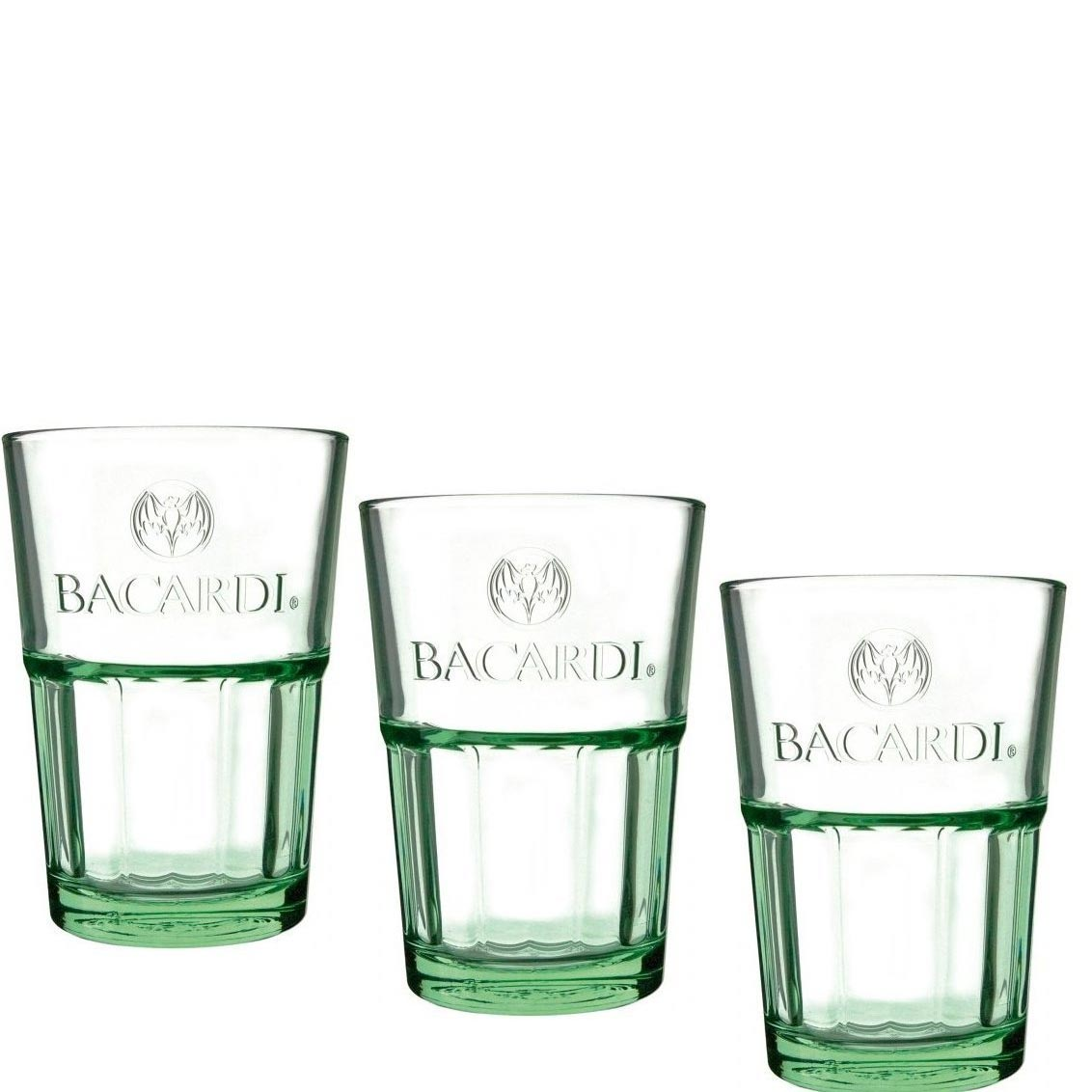 cocktail gl ser bacardi mojito longdrinkglas gr n 6er set gastro edition cocktailglas. Black Bedroom Furniture Sets. Home Design Ideas