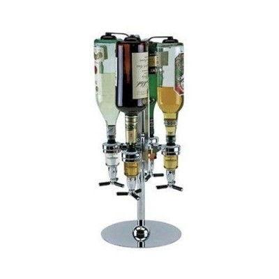 Bar-Butler-Drehbarer-Flaschenhalter-fuer-4-Flaschen