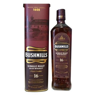 Bushmills-16-Jahre-Irish-Whiskey-Single-Malt-Three-Woods-70cl-Flasche