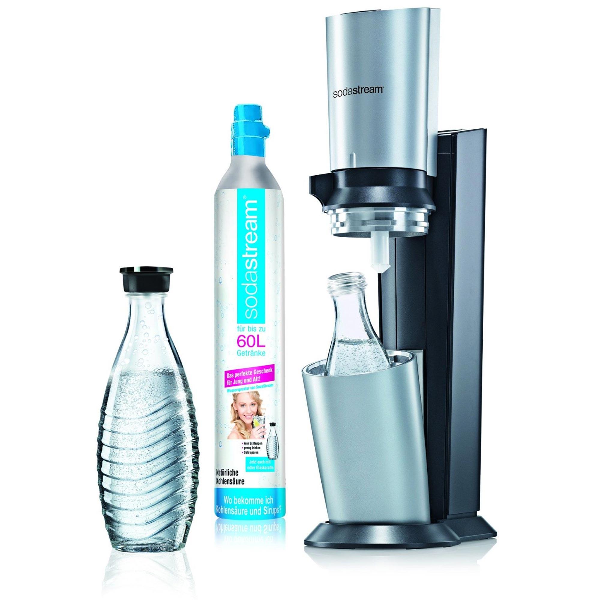 cocktail gl ser sodastream wassersprudler crystal inkl alu zylinder. Black Bedroom Furniture Sets. Home Design Ideas