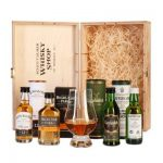 Geschenkset – Highland Park 12, Glenfiddich 12, Laphroaig 10, Bowmore 12 & Glencairn Whiskyglas