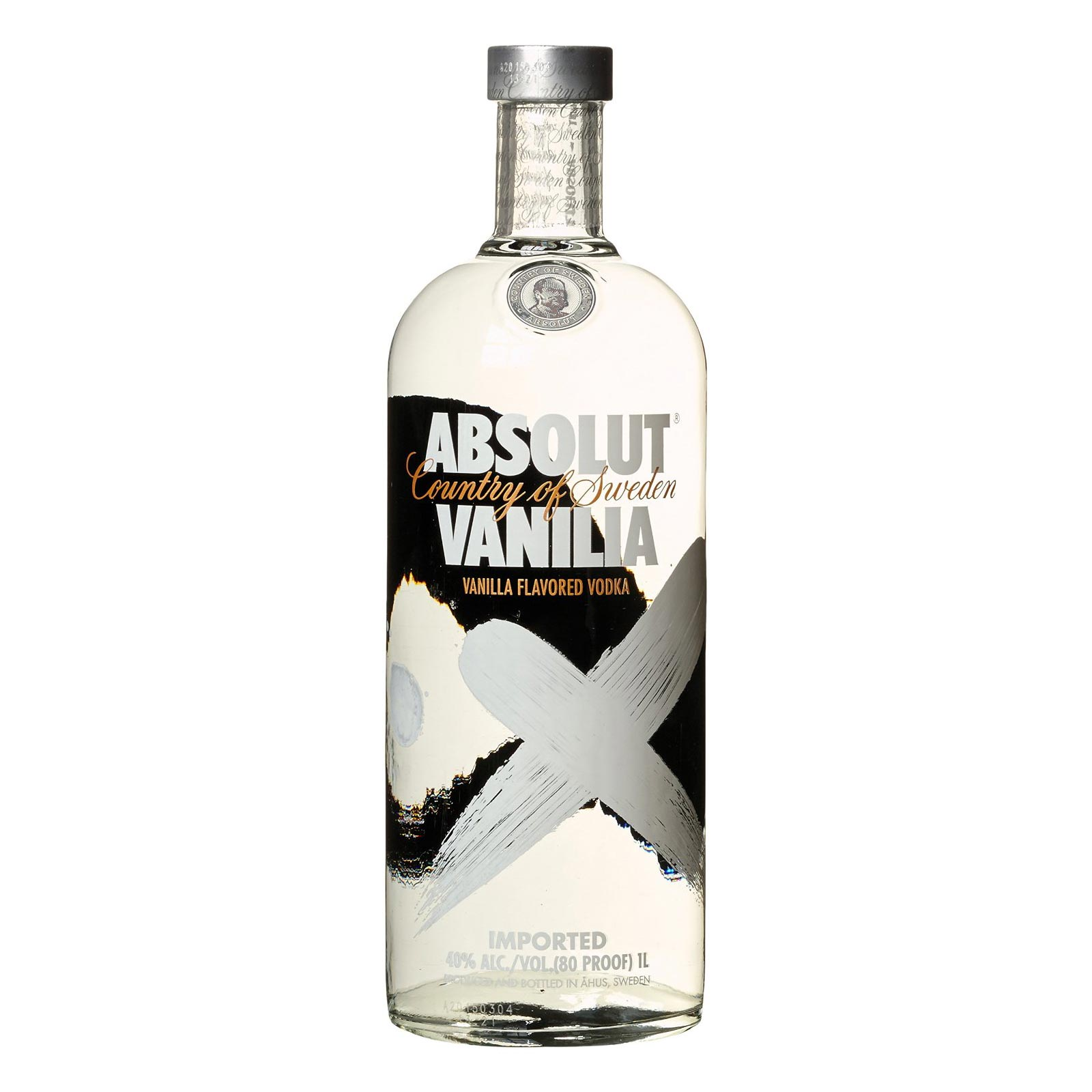 Cocktail-Gläser Original Absolut Vodka Vanila - 1 Liter Flasche