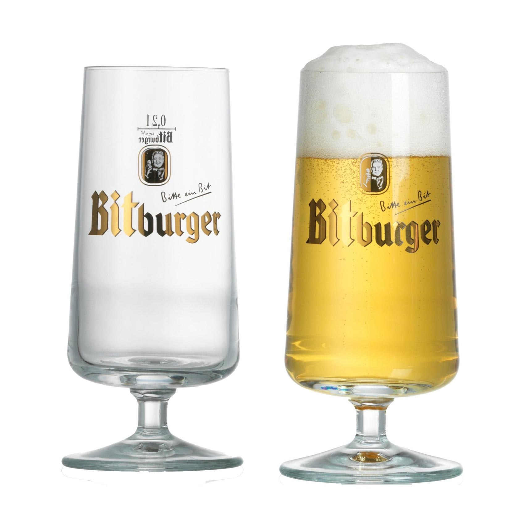 cocktail gl ser bitburger biergl ser 2er set mit logo. Black Bedroom Furniture Sets. Home Design Ideas