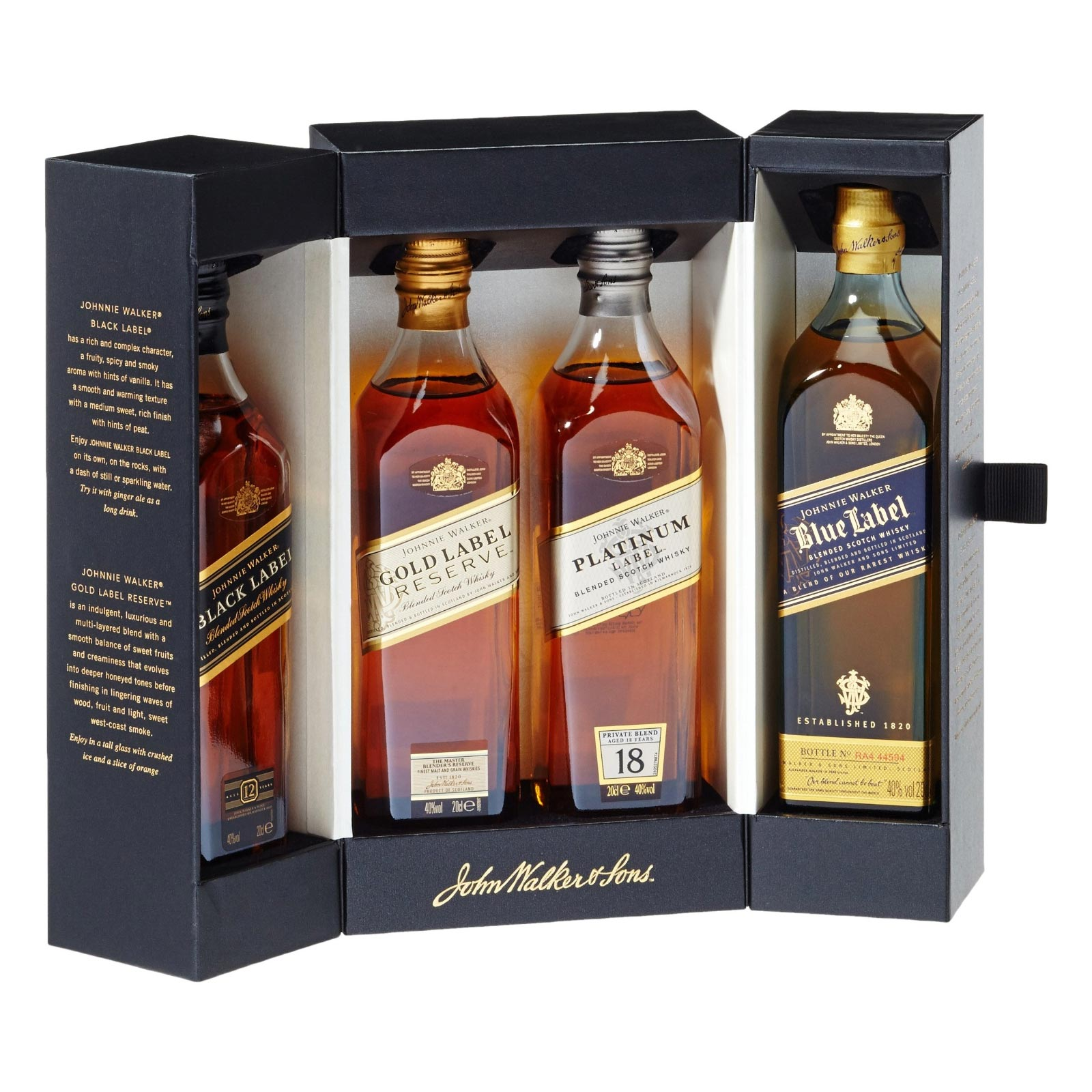cocktail gl ser whisky johnnie walker collection geschenk set. Black Bedroom Furniture Sets. Home Design Ideas