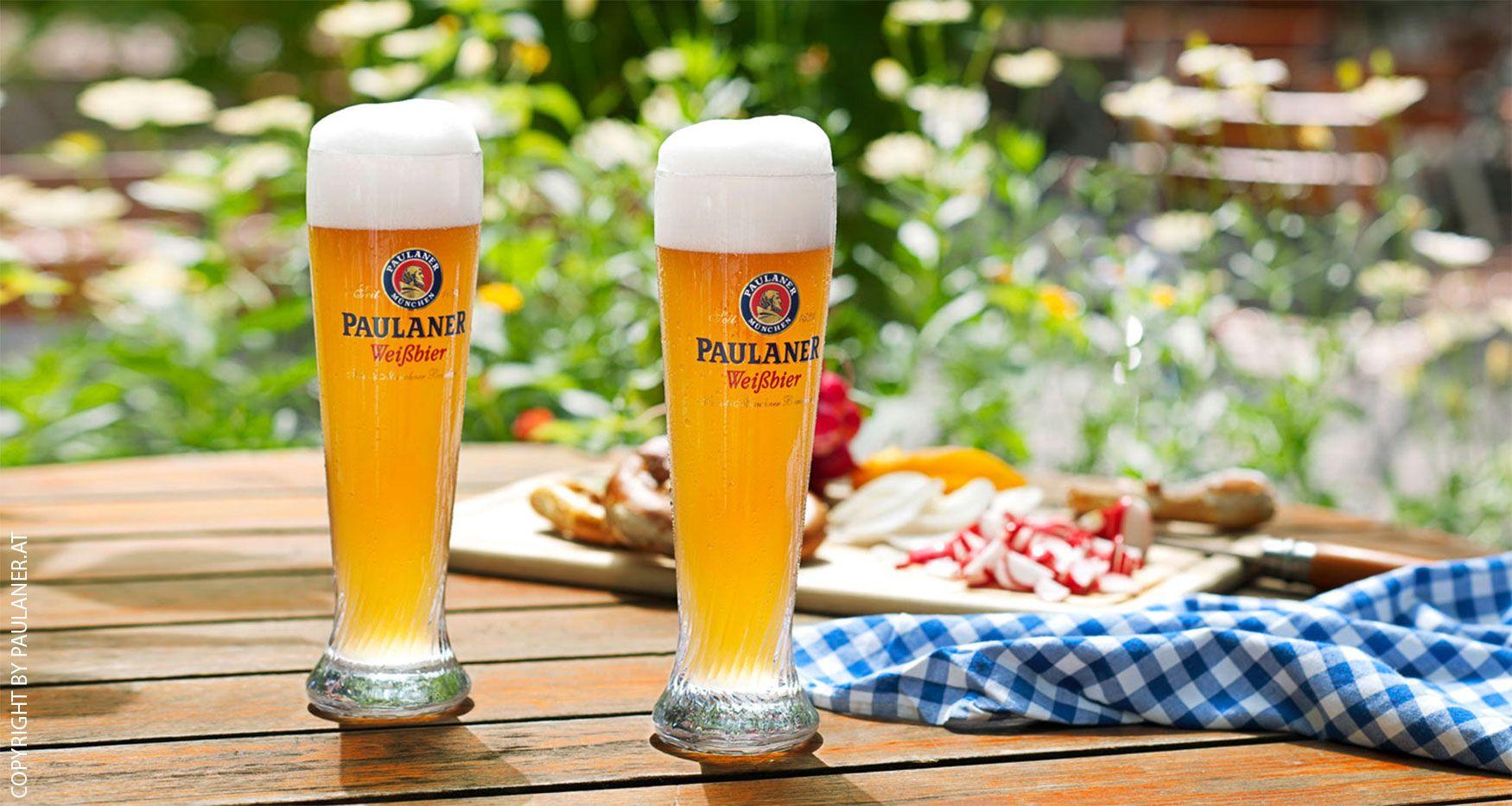 Cocktail-Gläser Weizenbierglas Paulaner 0.5l - 2er Set Biergläser mit Logo