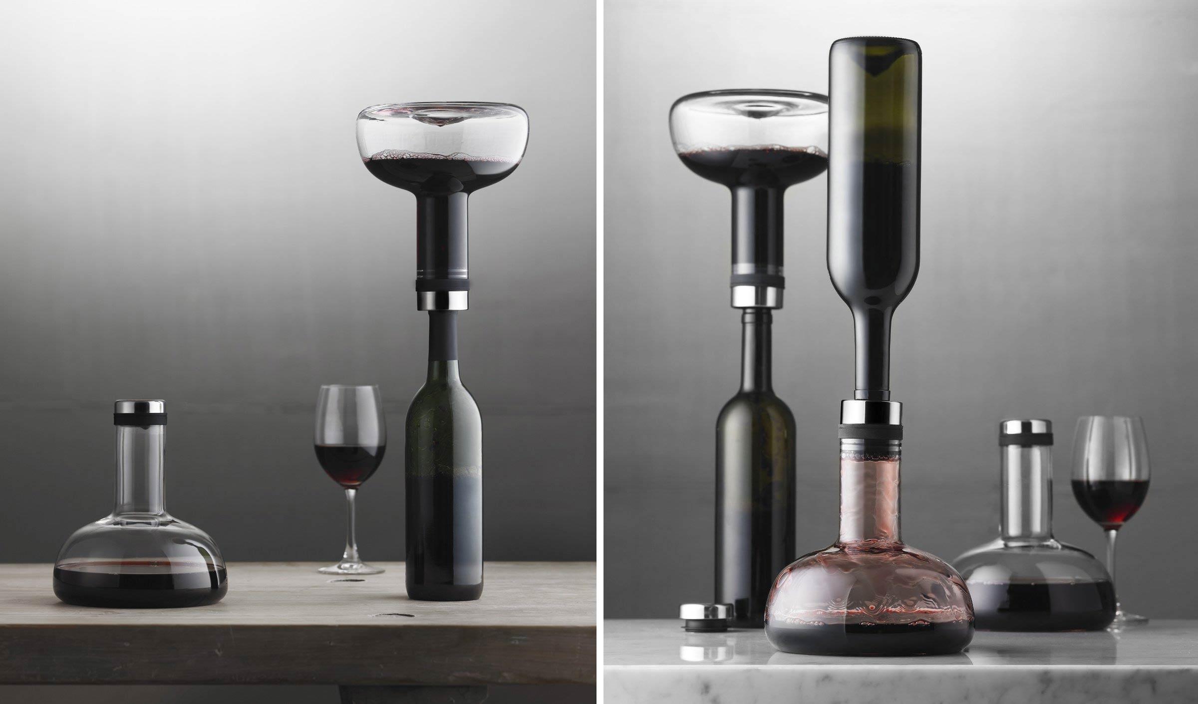 Wein Dekanter cocktail gläser menu weindekantier karaffe perfekter rotwein